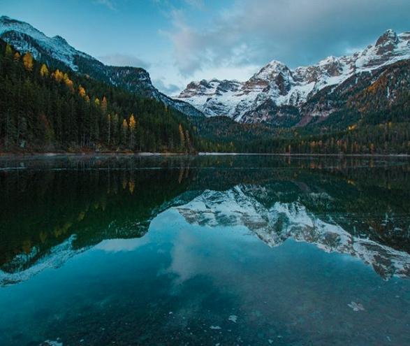 Lago, Tovel, on the road, road, Trentino, dolomiti, Lac, alpin,