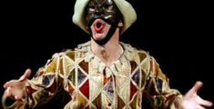 The Bergamasque mask of Harlequin